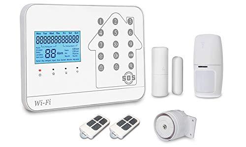 Weber Protect SafeAngel Alarmanlage mit GSM, WLAN und Telefon Anschluss. Optimaler Schutz mit bis zu 396 Sensoren in 99 Zonen.