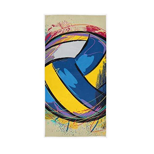 Rootti - Toalla de mano de algodón con patrón de acuarela para voleibol, lavable, toalla para la cara, toalla suave y transpirable, toalla para el sudor
