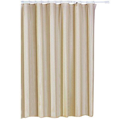 MSV Duschvorhang 180x200cm aus PVA in beige, 200x18x1 cm