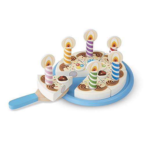 Melissa & Doug- Birthday Party Wooden Play Food Fiesta de Cumpleaños Comida de Juego de Madera, Multicolor (511) , color/modelo surtido