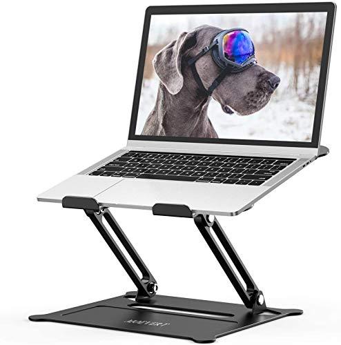 """MOEVERT Laptop Ständer, Ergonomischer Laptopständer Einstellbar Faltbarer Notebook Ständer Aluminium Laptop Riser mit Wärmeentlüftung für MacBook Air Pro, Dell, HP, Lenovo, iPad und 10-16""""Laptop"""
