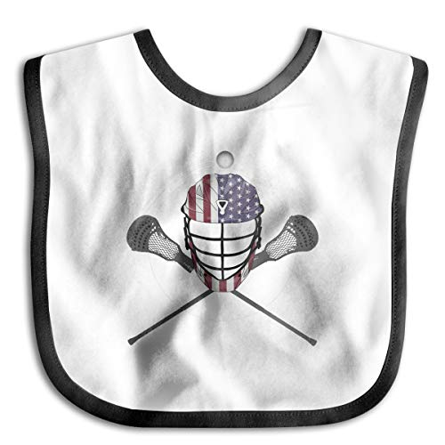 Price comparison product image XHX Baby Lacrosse Helmet And Sticks,  American Flag Lax Helmet Saliva Towel Bibs Burp Cloths