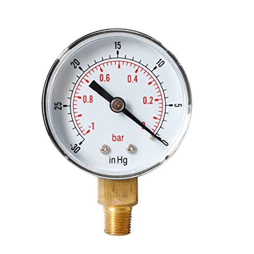 Timetided Medidor de presión de vacío Radial más Vendido Medidor de presión de Aceite Y50 Medidor de presión de Agua - 1-0bar -30-0inhg