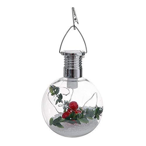 Hanger & Drop Ornamenten - Zonne aangedreven kerstboom Decoratieve Clear Ball Lamp Opknoping Kerstmis Ornament Home Room Decoratie - Vrouwen Kerstmis Kerstmis Kerst Sieraden Fir Cone Tree LAN 1