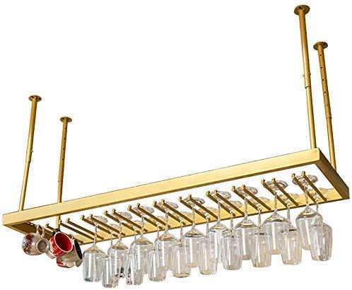 Wijnliefhebber barmeubel & plafond, goudkleurig, om op te hangen, wijnglas, deur/metaal, wijnglas, kledinghanger, organizer voor deur/glazen met voet 50/60/80/100/120/150 cm bar 100×35cm