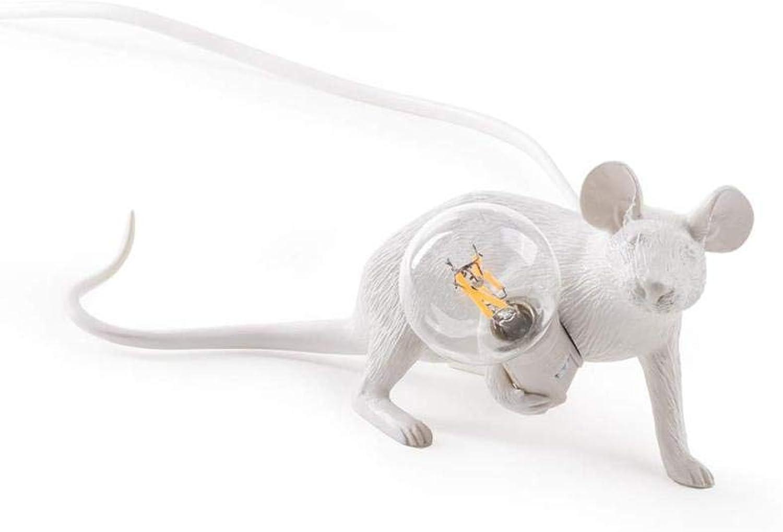 QXIAO Maus Lampe - Liege Licht Tier Tischlampe Stehlampe Familie Dekoration Weies Licht-Wei