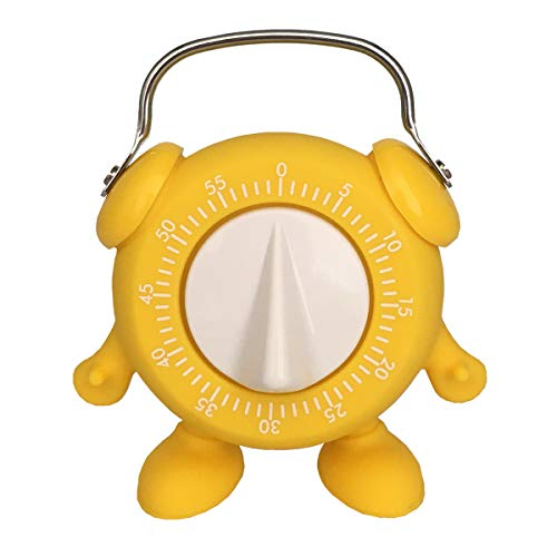 Kitchen Timer, for Baking Teaching Cooking Egg Cute Minion 60 Mins Countdown with Ring Alert (Yellow)