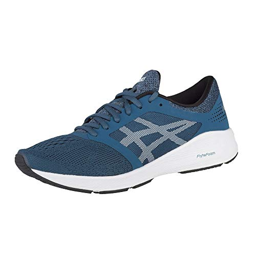 ASICS Men's Roadhawk FF Running Shoe - Color: Ink Blue/White/Black (Regular Width) - Size: 8