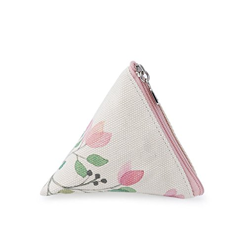 HUIJU La Mode Créative de la Corée du Sud Portable Mini Pièce Toile Imperméable à L'eau Triangle Maquillage Sac Sac cosmétique