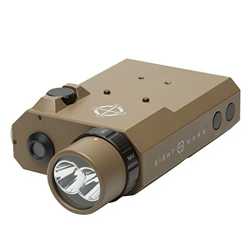 Sightmark LoPro Combo Flashlight (Visible and IR) with Green Laser Sight, Dark Earth