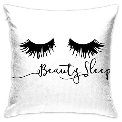 Beauty Sleep - Funda de almohada decorativa para el hogar, para regalo, sofá, cama, coche, 45,7 x 45,7 cm