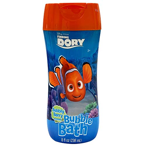 Finding Dory Bubble Bath 8 oz - Bubbly Berry Scent and Non Toxic Parabens & BPA Free
