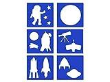 Mini Stencil Sheets - Space, Rocket, Planets, Moon, Telescope, Astronauts - 6 Styles