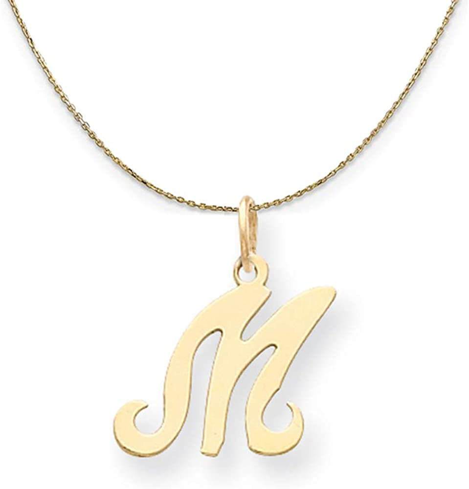 New product Black Bow Jewelry Sales 14k Yellow Gold Sm Sophia Initial Script M N