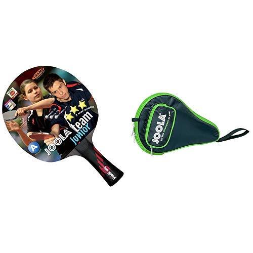 JOOLA Tischtennisschläger Team Junior & JOOLA TT-Hülle Pocket schwarz-grün