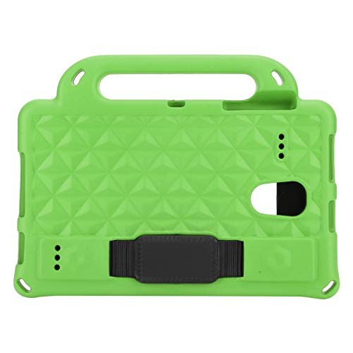 Shockproof Tablet Handle Cover Dustproof Tablet Stand Cover Kids-Friendly Protecive Sleeve Support for speakers, camera, headphones(green)