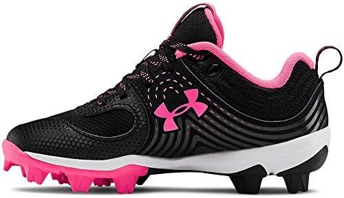 Under Armour Girl s Glyde RM Jr Softball Shoe Black 001 Cerise 1 product image