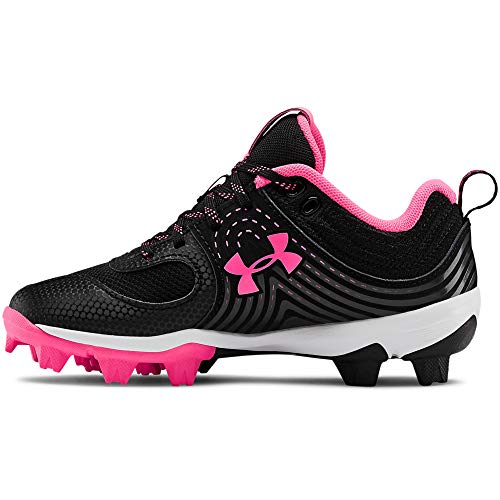Under Armour Girl's Glyde RM Jr. Softball Shoe, Black (001)/Cerise, 1
