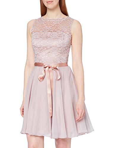 Swing Damen Cocktail Kleid mit floraler Spitze, Rosa (Hellrosa 6969), 32