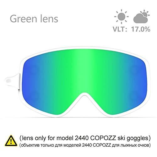 No brand Occhiali da Sci Obiettivo Sci Magnetico a Doppio Uso Esterno Lens for 2440 Snowboard Goggles Sci Notturno Anti-Fog UV400 Occhiali da Sci Donne (Colore : 5, Size : 23cm)