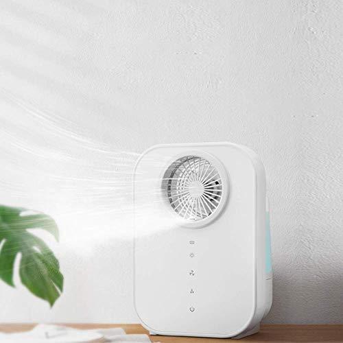 GANE Humidificador de Niebla fría con Ventilador Humidificador ultrasónico silencioso de 2,5 l Salida de Niebla Ajustable táctil Apagado automático sin Agua