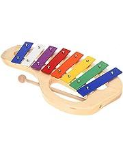 ammoon Madera de Pino-Xilófono Nota 8, base de aluminio con asa lazos, mazo de madera de palo exquisita Percussion Toddle niño Juguete musical