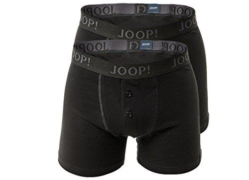 Joop! 2 Pack Herren Boxer Shorts mit Eingriff 2 x schwarz Black S