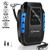 OneAmg Compresseur d'Air Portatif 12V, Compresseur Voiture d'air Digital Portable...