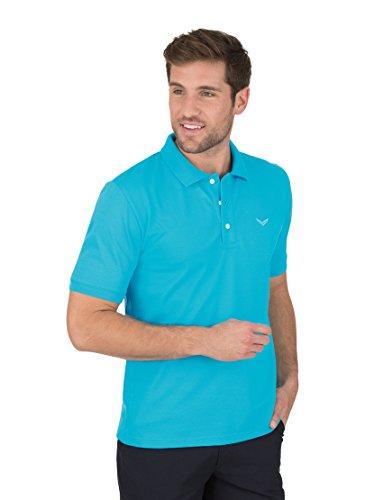 Trigema 621601 Polo, Bleu Azur, XXXL Homme