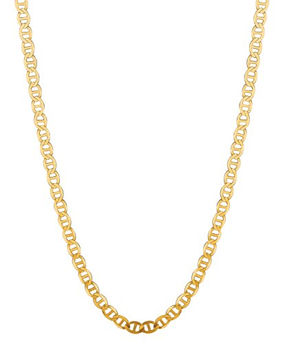 RCI 14K Solid Yellow Gold Anchor Mariner Link Chain Necklace 5.4 Mm 16'-30' (M120 (18 Inches)