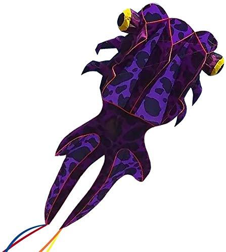 Decor Kite Giant 3D Goldfish Frameless Weiche Parafoil-Drachen für Kinder und Erwachsene Easy Flyer-Kite für Strandpark-Gartenspielplatz mit 50m-Linie und 2 Kite-Schwanz