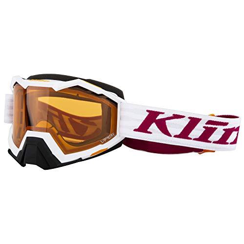 KLIM Viper Snow Goggle Linkage White Persimmon