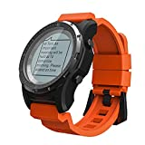 FZXL S966 GPS Smart Watch Car Heart Rate Monitor Pressione Aria Palestra Tracker Compass Termometro Barometro Altimetro Sport Smartwatch,B