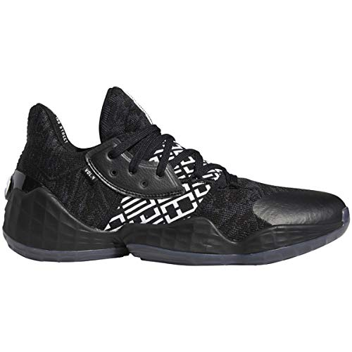 adidas Harden Vol. 4 Shoe - Men's Basketball Core Black/White