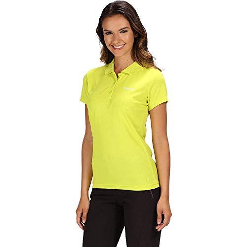 Regatta Damen Maverick Iv Active Poloshirt, schnelltrocknend XL Neonfeder