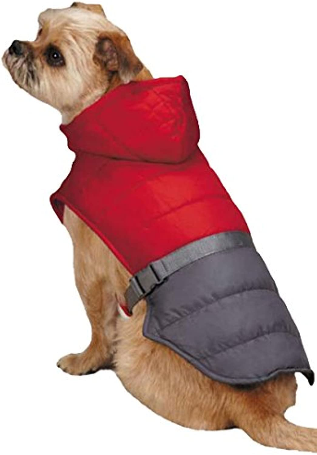 East Side Collection Trek Puffy Pet Jacket, XXLarge, True Red