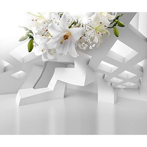 decomonkey | Fototapete Blumen Lilien Abstrakt 400x280 cm XL | Tapete | Wandbild | Wandbild | Bild | Fototapete | Tapeten | Wandtapete | Wanddeko | Wandtapete | 3d Effekt Architektur Modern