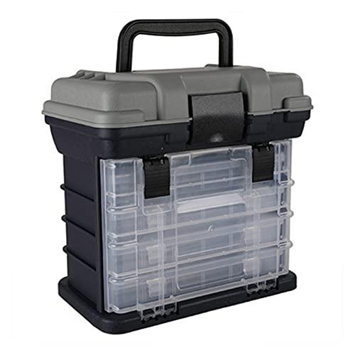 Caja de aparejos de pesca Tackle Box Organizer Pesca Aparejos de pesca Caja de señuelos de pesca con compartimientos Transparente Accesorios de pesca a prueba de agua Cajas de almacenamiento