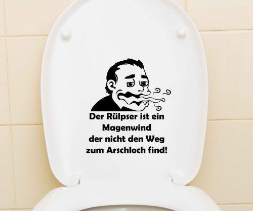 myDruck-Store Aufkleber WC Deckel Toiletten Sticker Bad Spruch Der Rülpser ist EIN Magenwind lustig Klo Tattoo Wandtattoo Toilettendeckel Badezimmer Tür 3C011, Farbe:Königsblau Matt, Hohe:25cm
