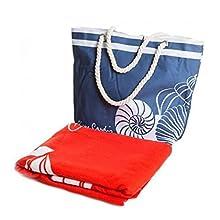 SomProduct Tom Pierre Cardin - Juego de bolsa de playa y toalla (100 x 180 cm), multicolor