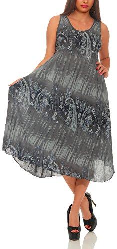 Matyfashion angesagtes Sommerkleid/Strandkleid, geeignet als Longshirt zu Leggings / 3-4(Grau)
