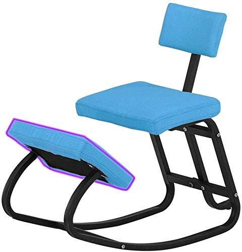 YYDD Sillas Porche Silla Mecedora con Rodillas Pad Correcta posición sentada Silla de Rodilla de relajación Silla reclinable for Sala de Estar, Patio y terraza (Color : Blue)