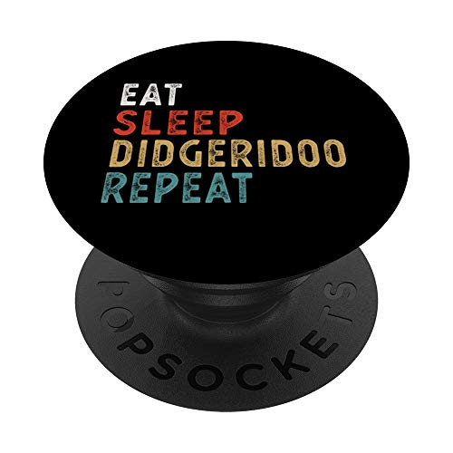 Vintage Eat Sleep Didgeridoo Repeat Funny Didgeridoo player PopSockets Grip and Stand for Phones and Tablets