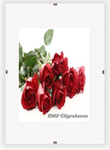 KMP know how in modern printing Bilderrahmen Cliprahmen Fotorahmen Bildhalter A1 A2 A3 A4 A5 A6 B2 Kunstglas Plexi (42 x 59,4 cm (DIN A2))