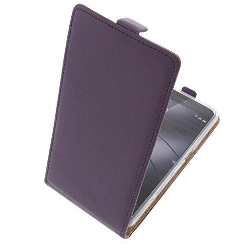 foto-kontor Tasche für Gigaset Me Pro Smartphone Flipstyle Schutz Hülle lila