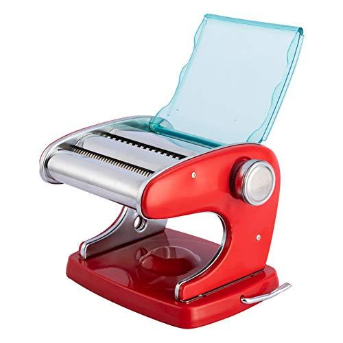 GzxLaY Machine à pâtes Manuelle Robuste en Acier Inoxydable, Machine à pâtes Maison, Base à Ventouse innovante, Conception Amovible, Facile à Nettoyer,B,TwoKnives