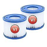 DRYT Para filtros para Coleman SaluSpa VI filtro de repuesto para Bestway 90352E, bomba de filtro de piscina para Miami, Vegas, Monaco BW58323 Erstzt 58239 (2)