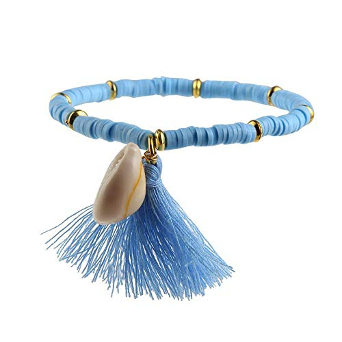 Armband sieraden Boho Zachte Aardewerk Polymeer Klei Armbanden Voor Vrouwen Kleurrijke Kralen Shell Kwast Armband Charme Surfer Sieraden Armband