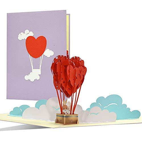 Tarjeta de felicitación de amor, tarjeta para el día de San Valentín,...