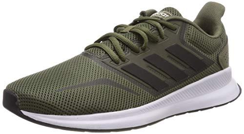 adidas Falcon Zapatillas de Running Hombre, Verde (Raw Khaki/Core Black/Ftwr White Raw Khaki/Core Black/Ftwr White), 41 1/3 EU